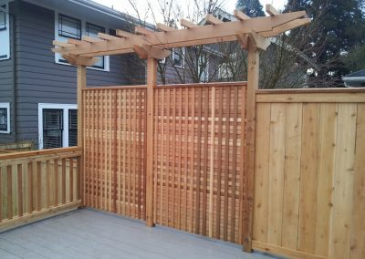 Cedar-privacy-fence-w-trellis